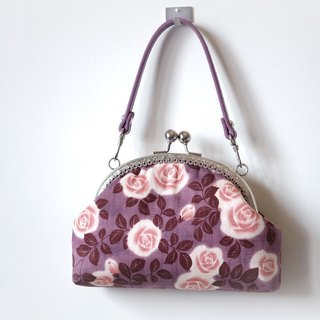 CaCa Crafts | [rose garden] retro clutch / evening bag / mouth gold package