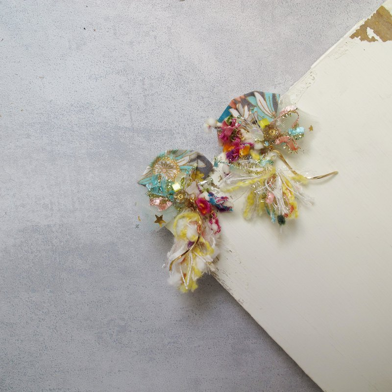 Floating Series Japanese Tassel Hand Stitched Earrings