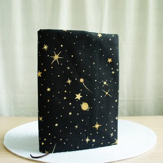 Lovely Japanese cloth [hot stamping double-sided cloth book cover night universe stars] book cover 25K log A5 hand account