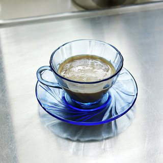 French coffee cup w/ saucer / French coffee cup - Blue / Blue