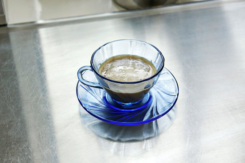 FRENCH COFFEE CUP WITH SAUCER BLUE / 法國製咖啡杯