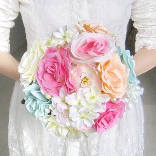 Wedding flower bouquet, bridal bouquet, briidesmaid bouquet B010