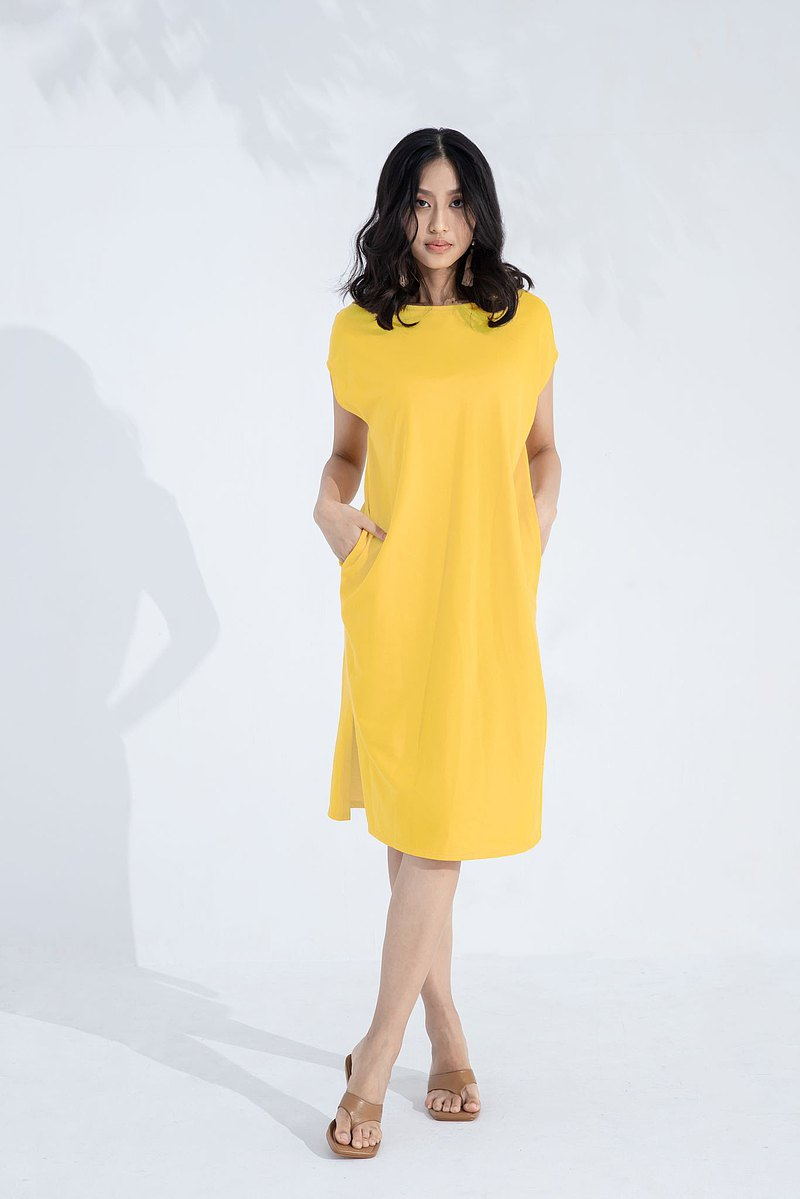 Simple long version sports dress (yellow)