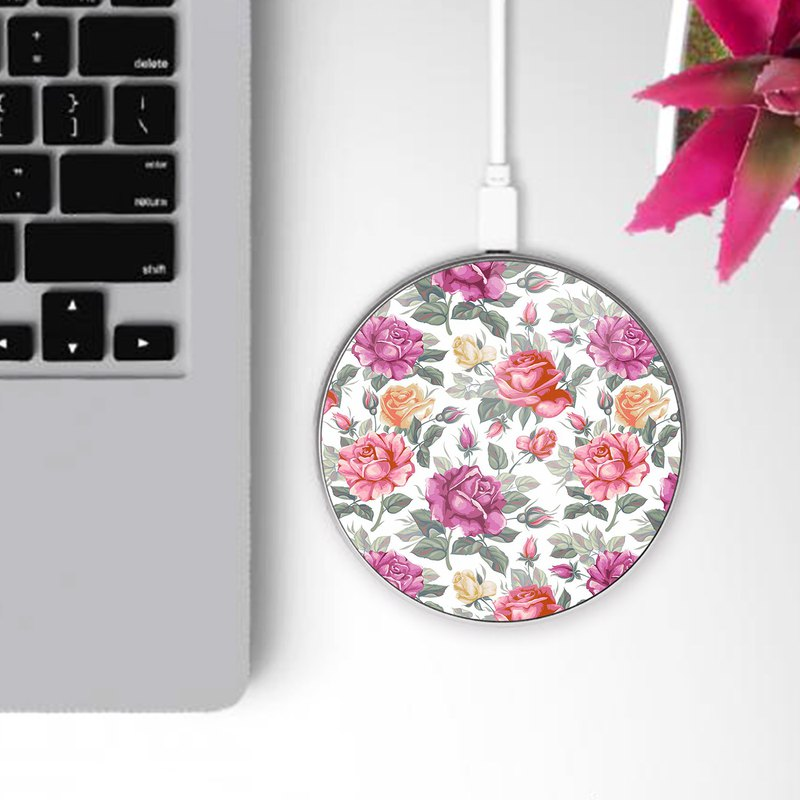 Flower Floral Pattern Wireless Qi Charger WCAM02T