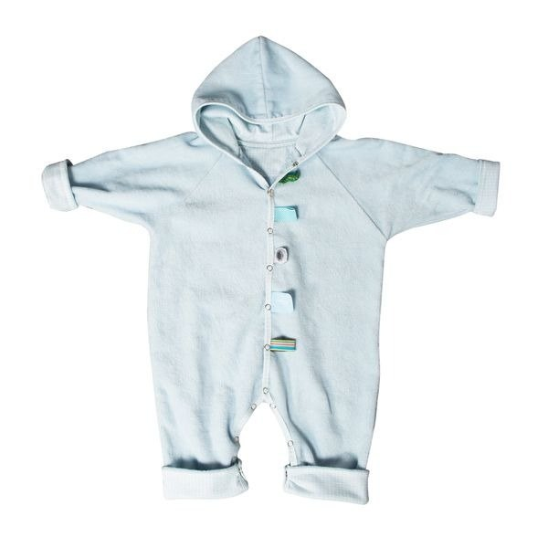 Netherlands Snoozebaby newborn baby bathrobe - Baby Blue