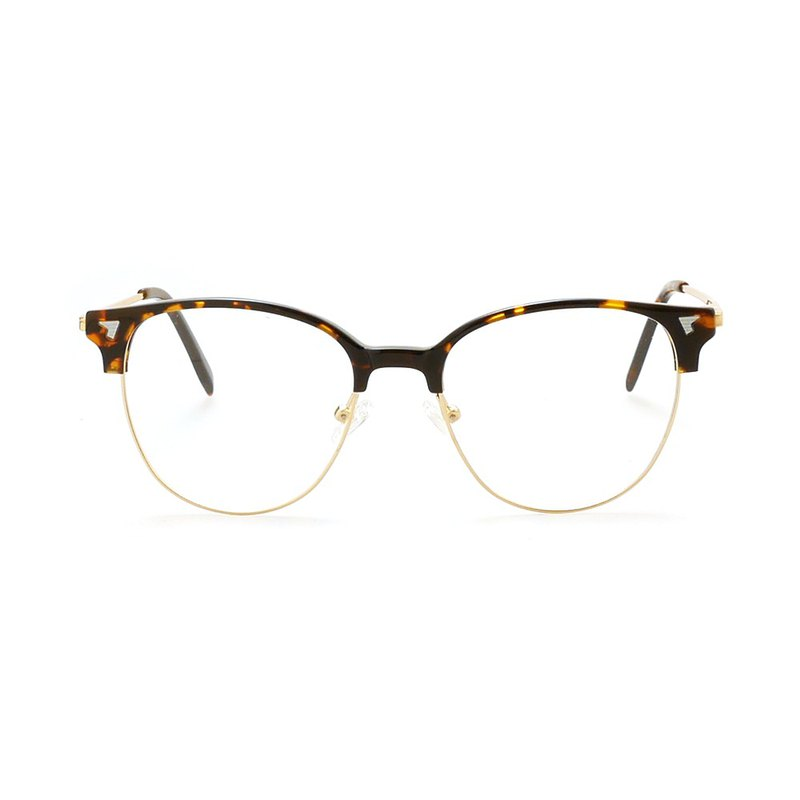 Japanese high-end design│Brow frame and flower glasses-tortoiseshell gold [new early adopter price]