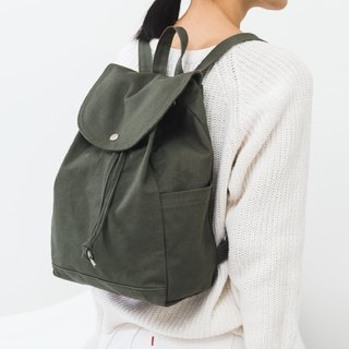 [New] BAGGU Side Pocket Back Backpack - Earth Olive Green