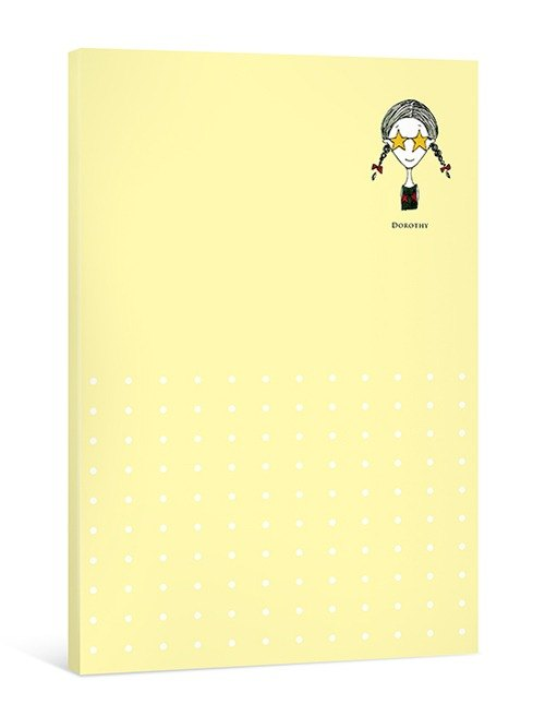 Dorothy May notepad simple universal - yellow (9AAAU0004)