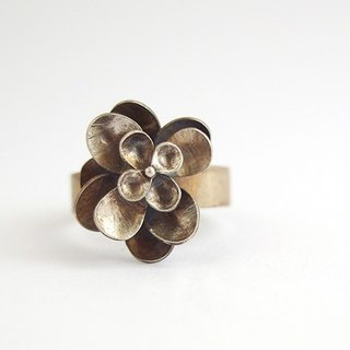 Flower Silver Ring / Ring fate # 13
