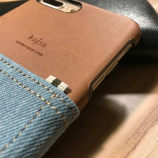 iPhone 7 / iPhone 7 plus jeans pocket may be a single card phone case cover (light blue)
