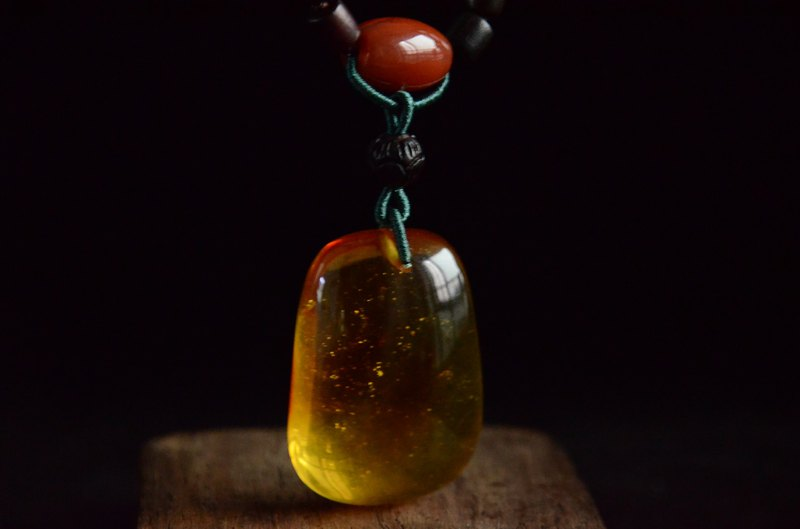 [Autumn] Amber natural organic gemstone amber classical traditional literary necklace