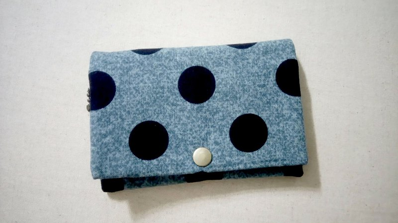 Multi-layered coin purse - Large dot calm blue