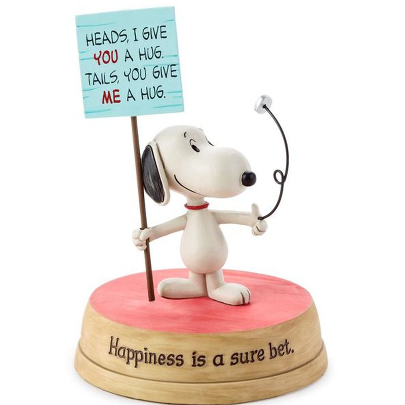 Snoopy Handmade Sculpture - Declaration of Happiness [Hallmark-Peanuts Snoopy Handmade Sculpture]