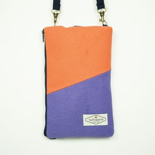 HAZA touch dual phone bag / Out packet (hook attached straps)