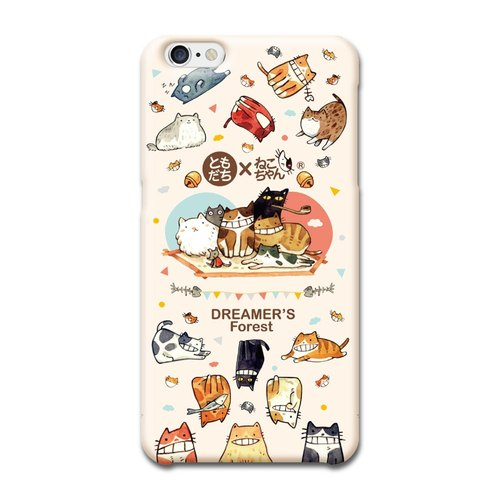 (Spot) afu Illustration Phone Case - iPhone6 ​​/ 6s - One Hundred Cats Live