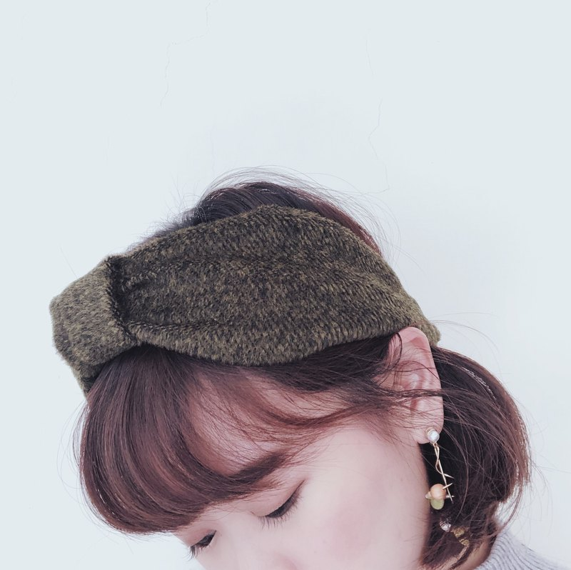Green shade Elastic hairband
