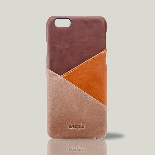 [Selling models] Baileys - i6 / i6S leather cell phone back cover - brown [Spot 1 out of print out of print]