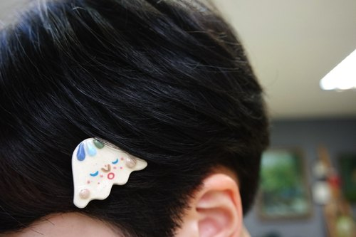 Elf hairpin hair accessories white ceramic lapel [limited goods]