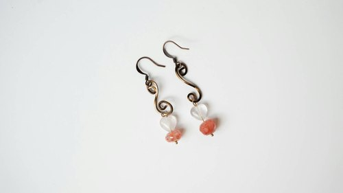 [Note] leap Natural stone earrings handmade X