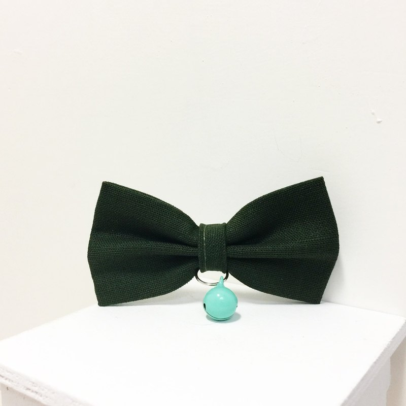 Dark green cat mini dog small dog bow decorative collar