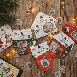 Christmas series bag and paper sticker bag daily hand account Thanksgiving gift DIY decorative stickers