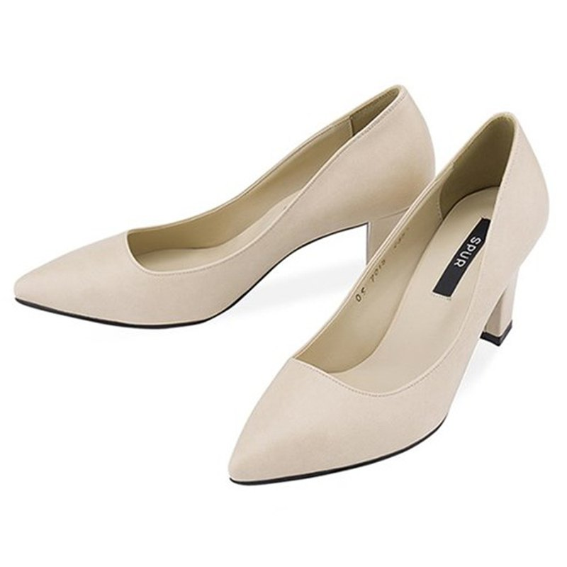 Pre-order – SPUR Pointed retro pumps OS7015 BEIGE