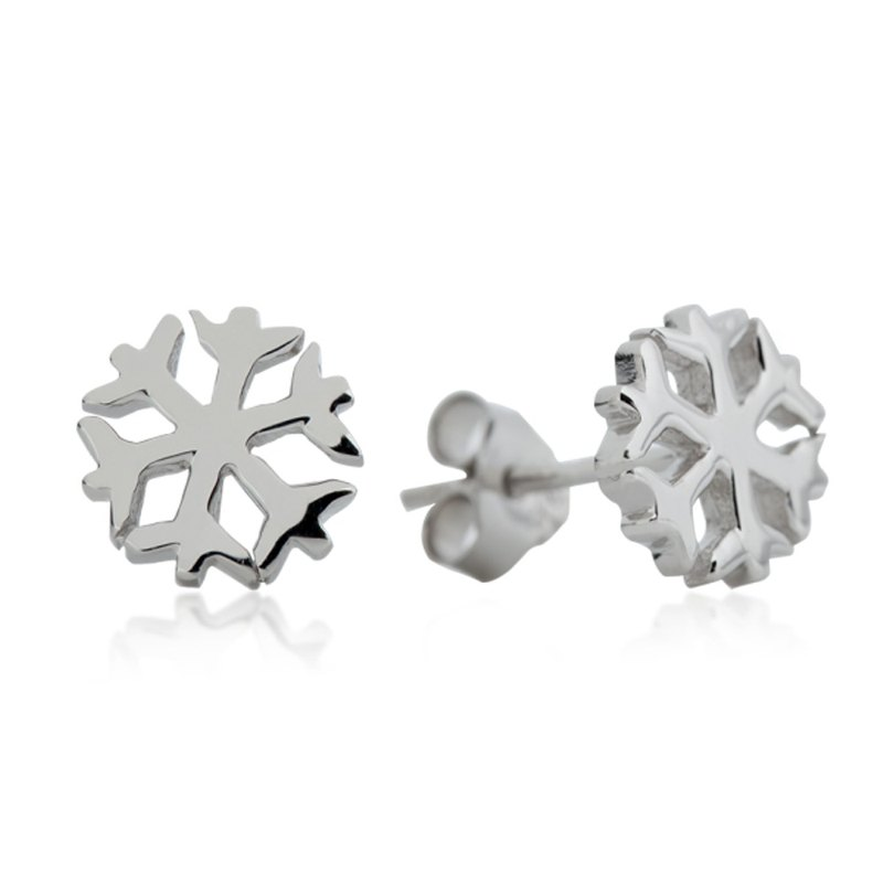 Sterling silver small snowflake earrings (can be changed)