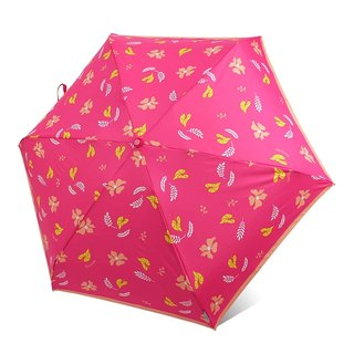 【Taiwan's Cultural Rain's talk】 Folding leaves and flowers anti-UV folding umbrella