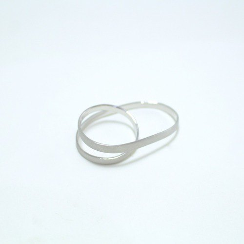 2 finger ring silver