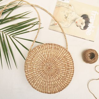 Natural Straw Circle Bag