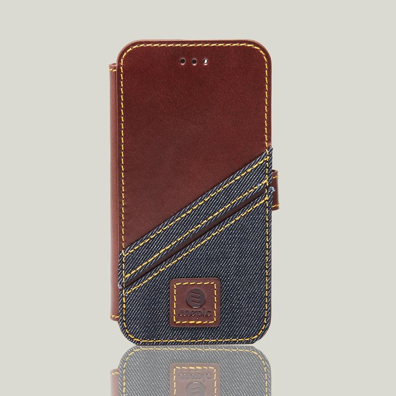 Leather Clamshell Phone Back | Bronx Bronx ‧ iPhone 7 / 8 - Brown