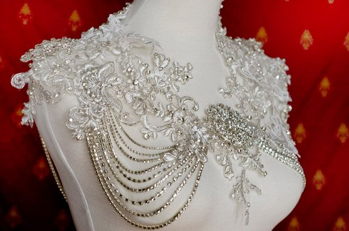 MAYA* Jewelcrafting Shawl - / Sally F.Li High Order / Gala Dinner Wedding / Self Wedding Wedding gown / Custom Wedding Dress-Valentine's Day Mother's Day Christmas