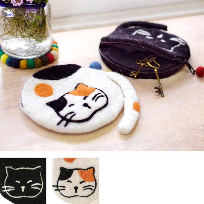 [Hot pre-order] Cat dumpling felt storage bag coin purse (two types) 1771600002 Valentine's Day