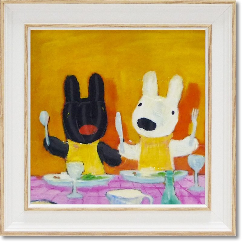 Lisa and Casper - Mini Framed Copy Painting - Start