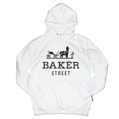 British Fashion Brand [Baker Street] Alpaca Carriage Printed Hoodie