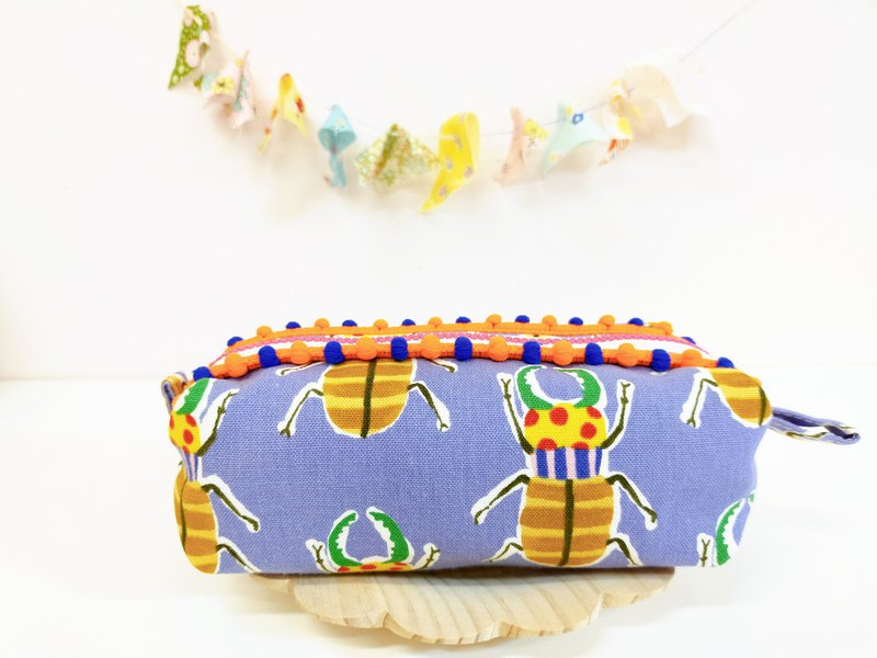 Stag beetle fat bag cosmetic bag storage bag pencil case