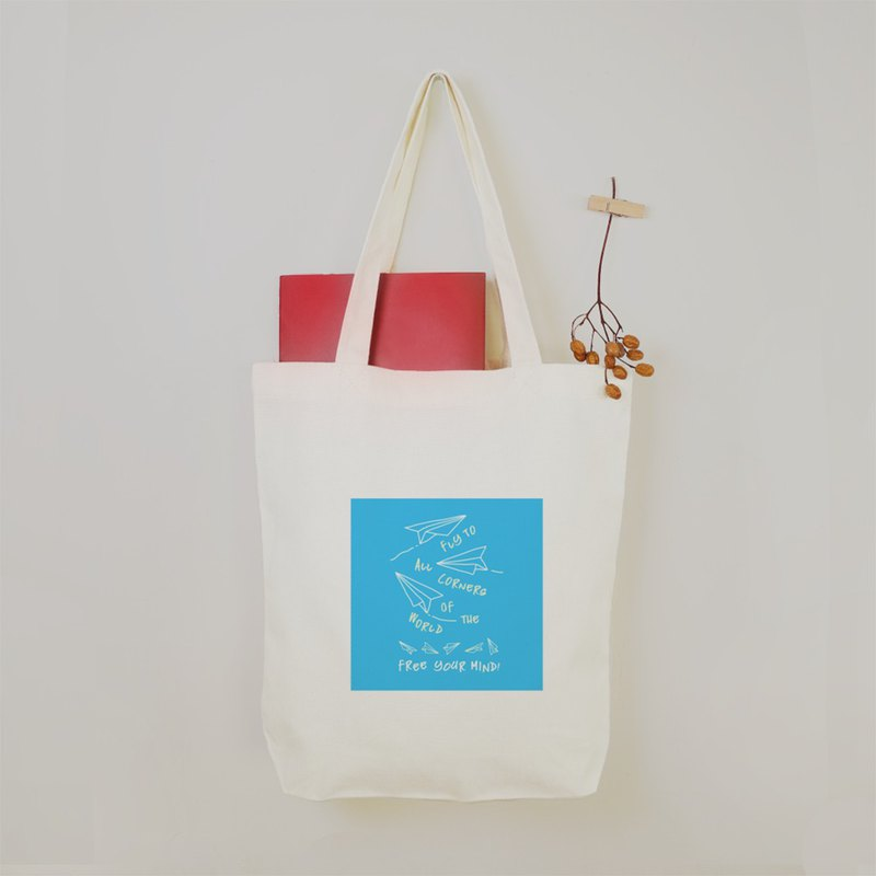 NOIZE - Dream Blue Sky Paper Airplane Canvas Bag