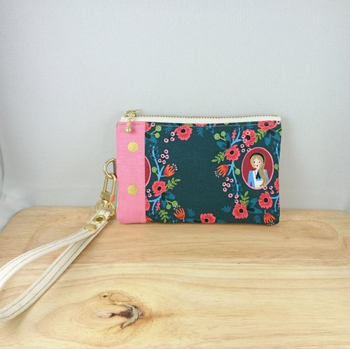 [FXS/Coin Purse] Alice's Dream Flower Mirror. Green
