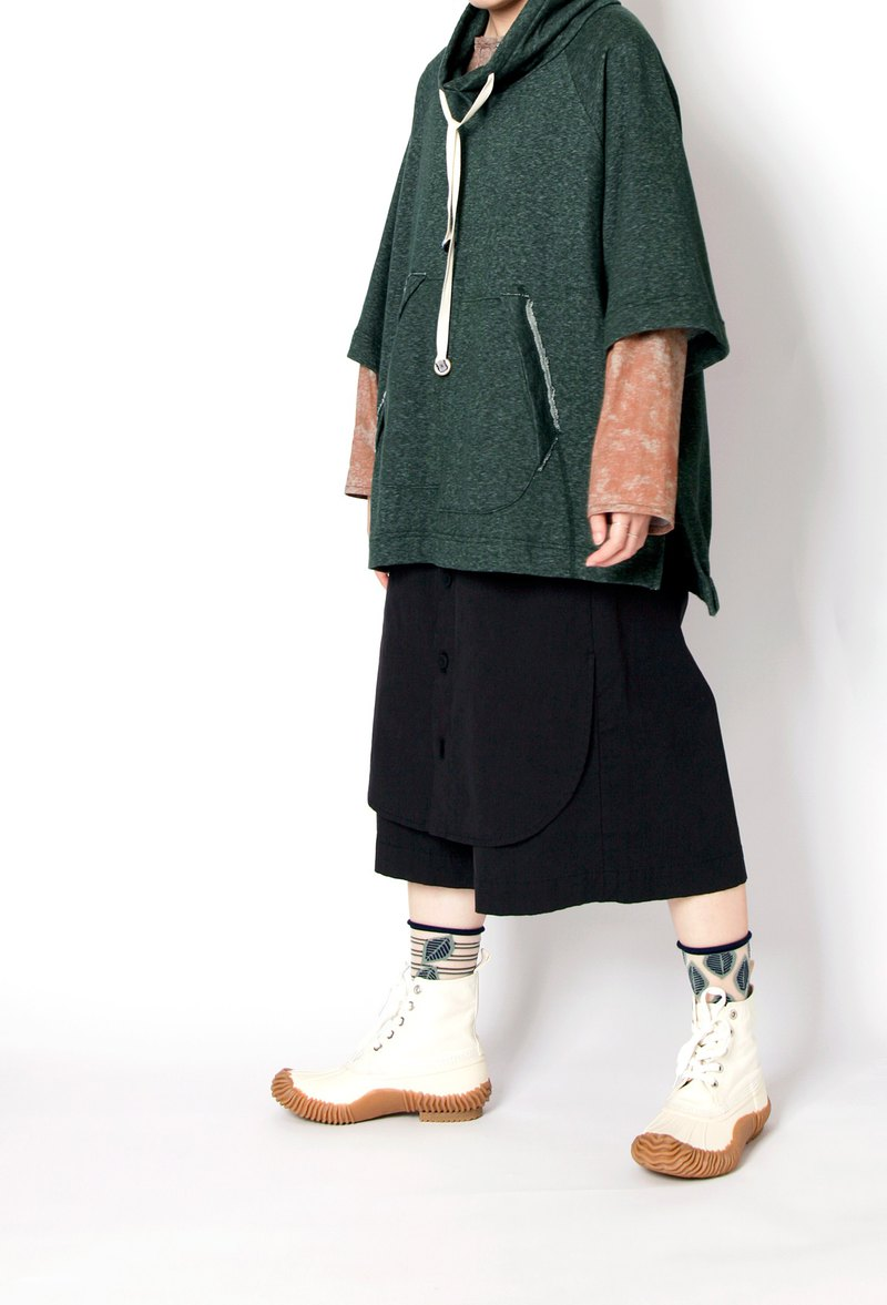 Earth _ shielding falling clothes pendulum seven points wide pants
