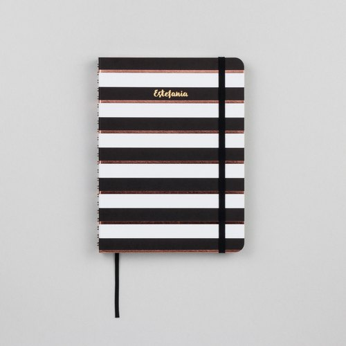 Black Stripe A5 Notebook / Sketchbook