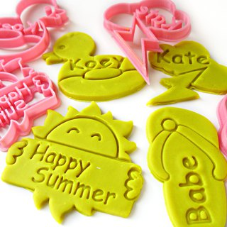 SUMMER Themed Custom Cookie Cutter Set, 2/ 3/ 4 pcs, Sun/Duck/Flip Flop/Cloud
