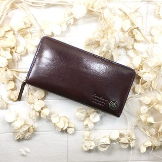 159 BR Long wallet Italian leather leather Long wallet / Italian leather / leather / flap / cool / stylish packaging / intention large leather / leather / translating / cold /