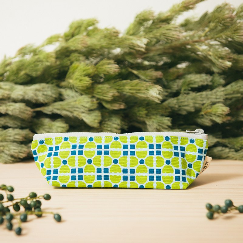 Pencil Case / Old Ceramic Tile No.4 / Guava Green