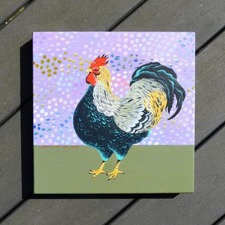 UK Cute Custom Pet/Animal Portrait Rooster Portrait Birthday/Valentine/Wedding Anniversary/Christmas/Mother's Day/Father's Day Acrylic Canvas Works