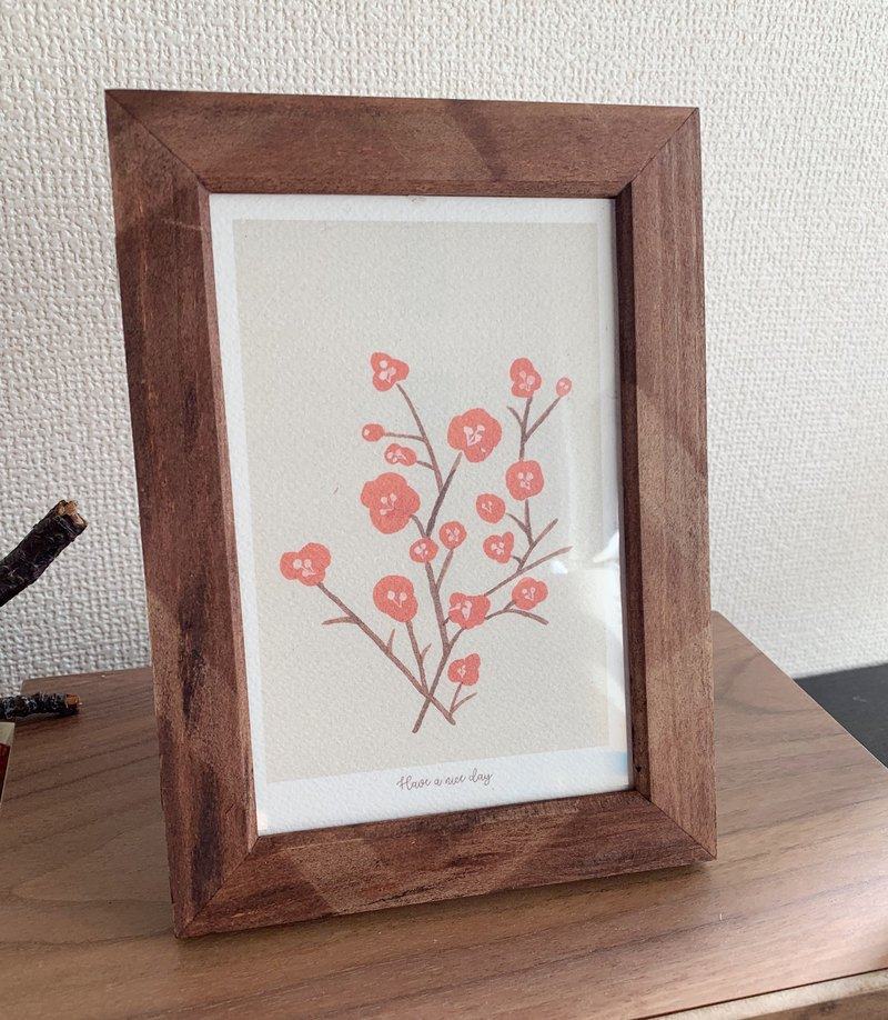 Illustration with frame-Christmas Gift
