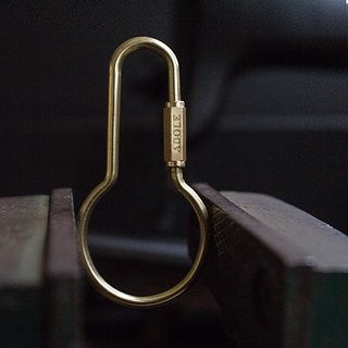 [ADOLE] handmade brass key ring / round pot Camber