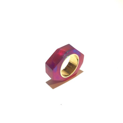PRISM ring gold purple