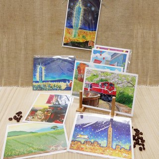 [㊣ Taiwan Artist - Postcard Linzong Fan] - Complete Collection - Buy 1 Get 8