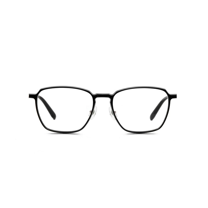 Very lightweight beta titanium plastic steel keyhole bridge bridge glasses-classic black