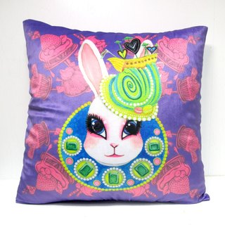 """Gookaso"" Queen violet rabbit cartoon printed pillow 45x45cm original design"